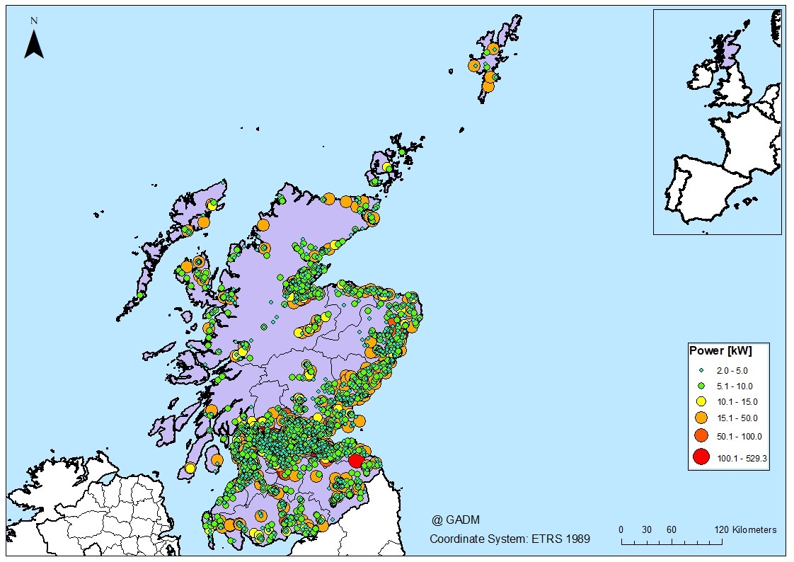 MHP energy recovery potential of Scottish sites