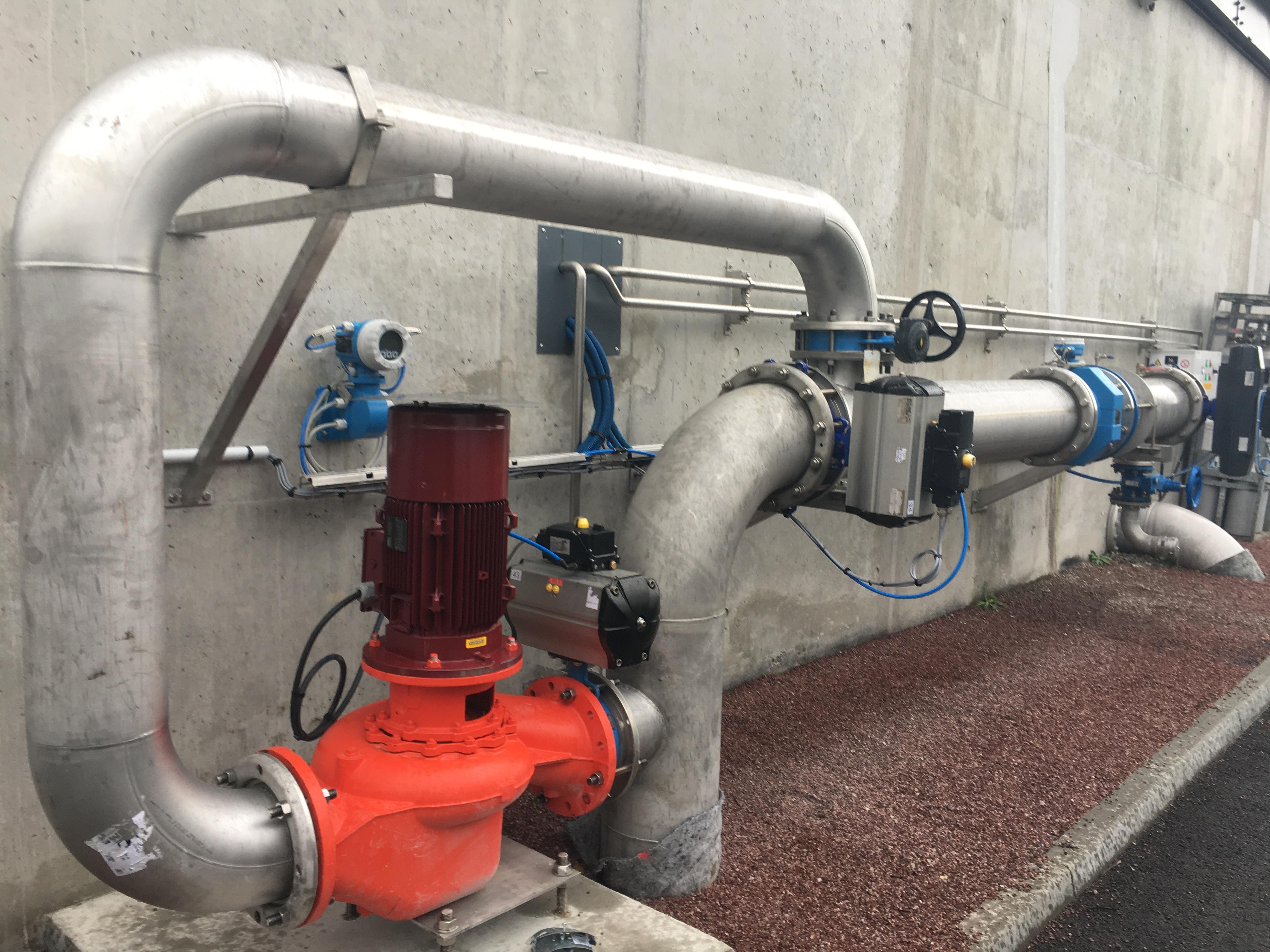 Reverse pump installation at St Pair sur Mer