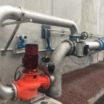 Reverse pump installation at St Pair sur Mer