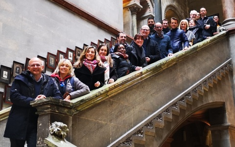 Our project team in TCD's beautiful Museum Building